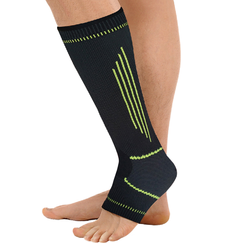 New style simple elasticity sports safety series green stripe lengthened ankle support