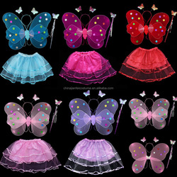 Kids Baby Girl Pixie Fairy Wings Butterfly Costume Tinker Bell Halloween wholesale 3D beautiful butterfly wings