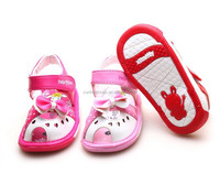 KIDS summer Leather Baby Sandals Girl Sound Children Shoes,Super quality Baby toddler shoes