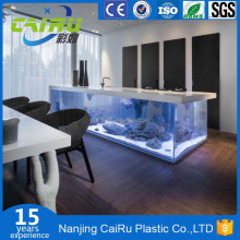 High quality acrylic oval coffee table fish aquarium