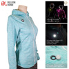 2016 Women Blue Flashing Cycling led jacket with hood safety led jacket