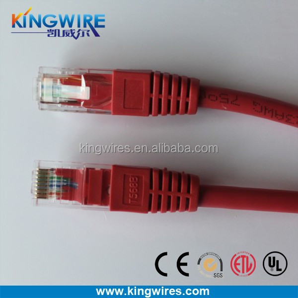 Wholesell adapter for network cable 4 pairs 24awg cat5e utp patch cord