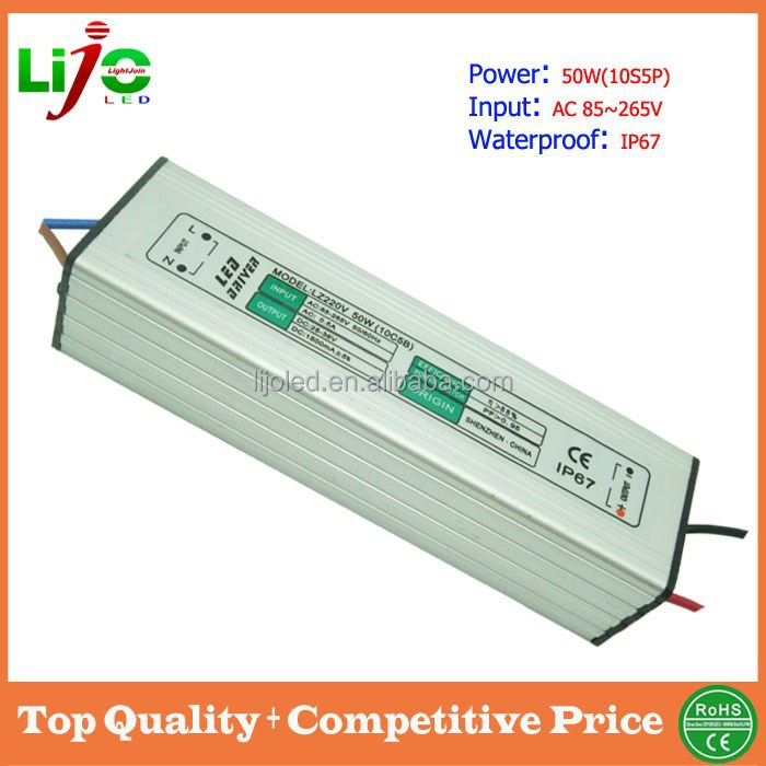 50w 1500ma constant current ip67 waterproof electronic led driver