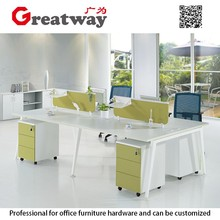 Office table design accessories standard size material office partition wall