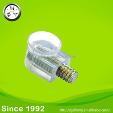 Plastic transparent glass shelf pin with screw pin