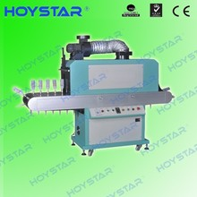 flat and round UV drying and curing machine for bottle