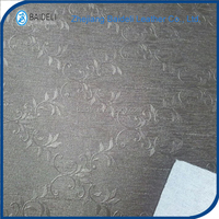 flower pattern pvc pu coated artificial leather for house upholstery
