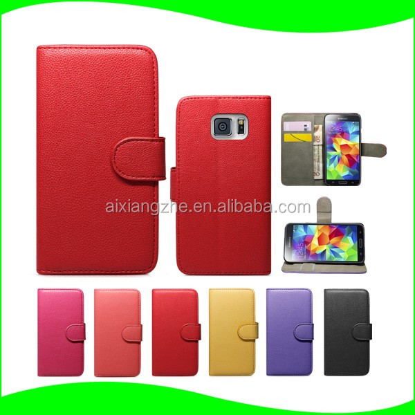 2016 New Design Leather Flip Back Case Cover for Samsung Galaxy S duos s7562