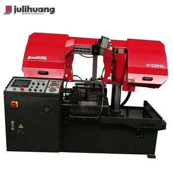 High Quality JULIHUANG Automatic OEM Industrial Iron Steel Metal Quick Cutting Custom CE ISO Horizontal CNC Band Sawing Machine