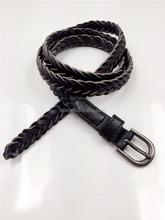 Women's pu braided belt