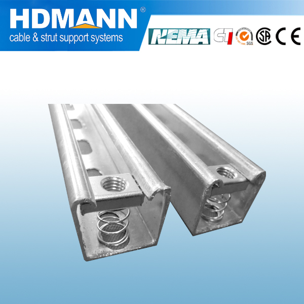 strut slotted galvanized steel U Channel for suport pipe system