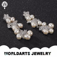 Wholesale Cheap New Model Alloy Drop Fashion Pearl Jewelry Earrings
