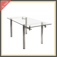 tempered glass kitchen island expandable console dining table