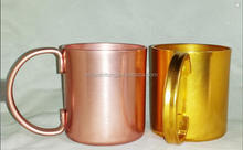 wholesale direct manufacturer hot sale moscow mule copper mug/moscow mule mug/aluminum coffee mug stainless steel coffee cup
