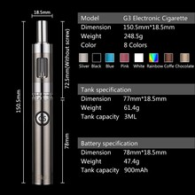 Double Charging 900mAh best e cigar G3 kit best electronic cigarette vaporizer