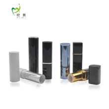 Colorful Round Glossy Lip Balm Container Mini Slim Wholesale Empty Aluminum Lipstick Tube
