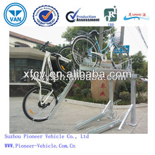 High Quality Galvanized Double Deck Bike Parking Rack /Stackable Bike Parking Stand/Two Tier Bike Display Rack (ISO Spproved)