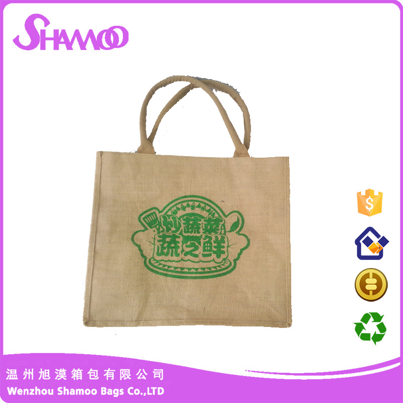 wholesale cheap and small jute tote shopping bag for wine and coffe and rice