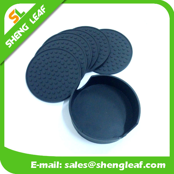 Flexible silicone coaster stretch cheap silicone drink coaster custom design