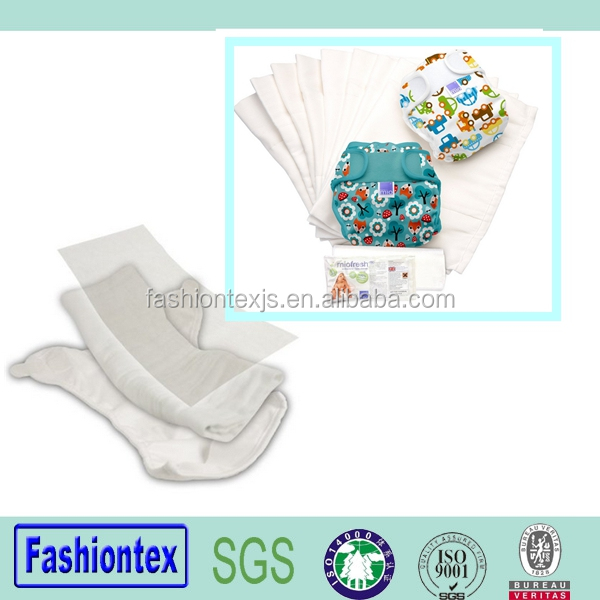 Wholesale High Quality Super Soft Portable Reusable Cotton White Cloth Baby Diapers
