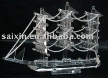 Crystal ship model for home decoration and wedding gifts