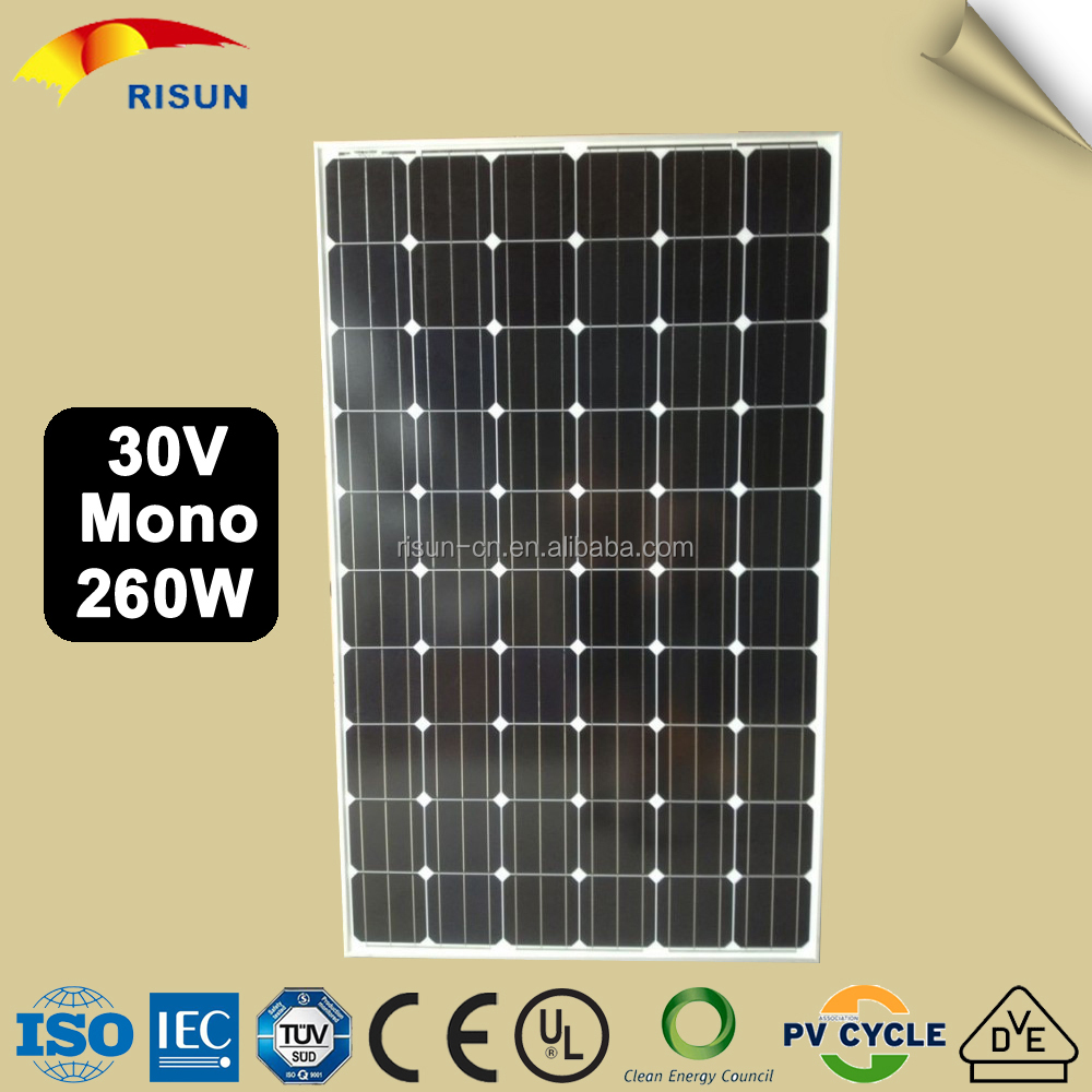 Mono 260 W The Lowest Prices Solar Panel For Home System