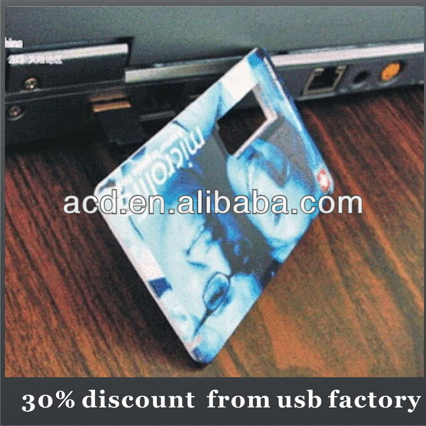 low price 2GB the thinnest credit card shaped usb flash drive