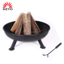 KEYO new design outdoor wooden charcoal 57cm bbq grill fire pit