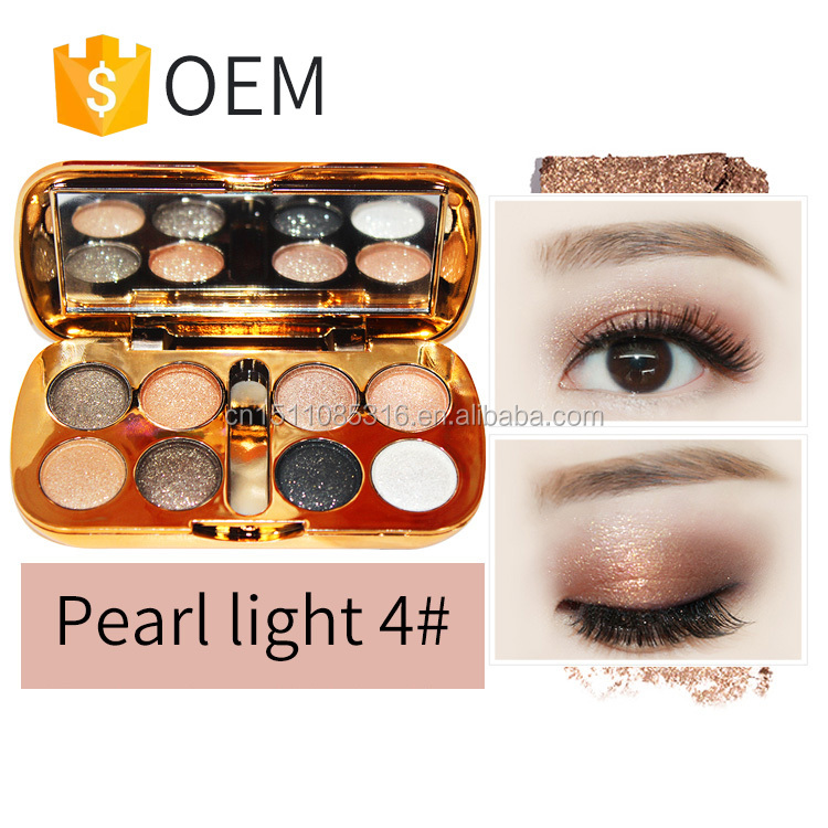 8color eyeshadow with mirror glitter cheap eyeshadow palette