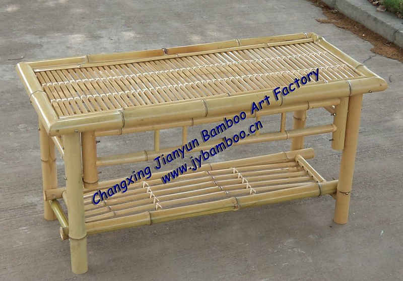 knockdown structure bamboo coffee table