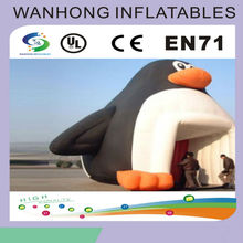 Cute style animal shape inflatable tent , inflatable penguin tent