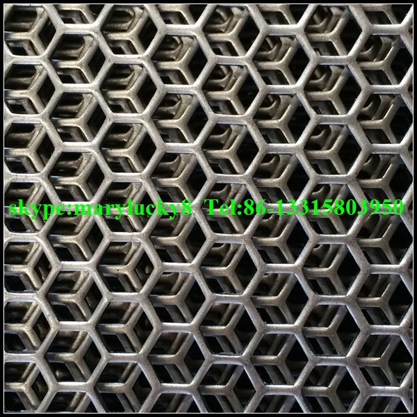 Hexagonal Hole Perforated Metal Sheet Hexagon Perforated