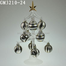 Christmas decorative led light tree with glass balls