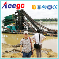 River Gold And Sand Mining Dredge