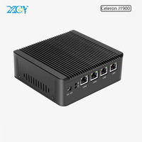 XCY mini pc Celeron J1900 4 LAN use pfsense as firewall 4gb ram 16g ssd 150M WIFI Win7 fanlsee computer