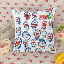 Custom Doraemon pillow cover printing , customize printed Doraemon pillow cover