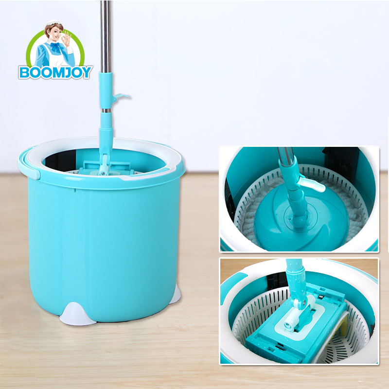 Easy Spin Mop Set Flat Mop Head Dry and Wet Double Cleaning 360 Rotation super mop wet head