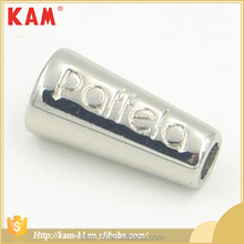 Good quality custom logo metal zinc alloy garment bell cord lock