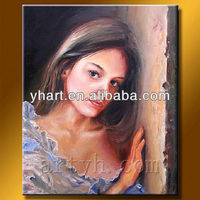 Handmade Abstract Portrait Picture of Nude Women paintings on Canvas