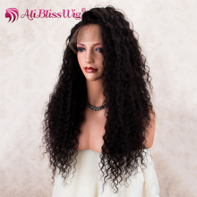 Ali Bliss Wig 2018 new design raw hair elastic band brazilian hair glueless mongolian kinky curly full lace wig for women