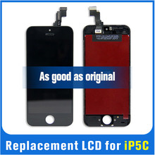 LCD for iphone 5c lcd touch screen digitizer assembly with lcd flex cable for iphone 5c