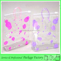 Recyclable small clear plastic zipper bag with handle