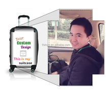 OEM ODM Personalized Pictures insert ABS+PC Trolley Hard Shell Luggage