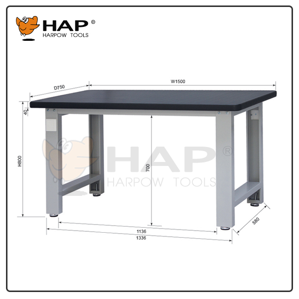 Medium-duty 1500 length 800 height work table work bench