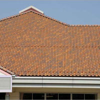 Terracotta metal roof tile