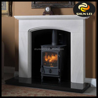 simple maeble cpmposite stone fireplaces