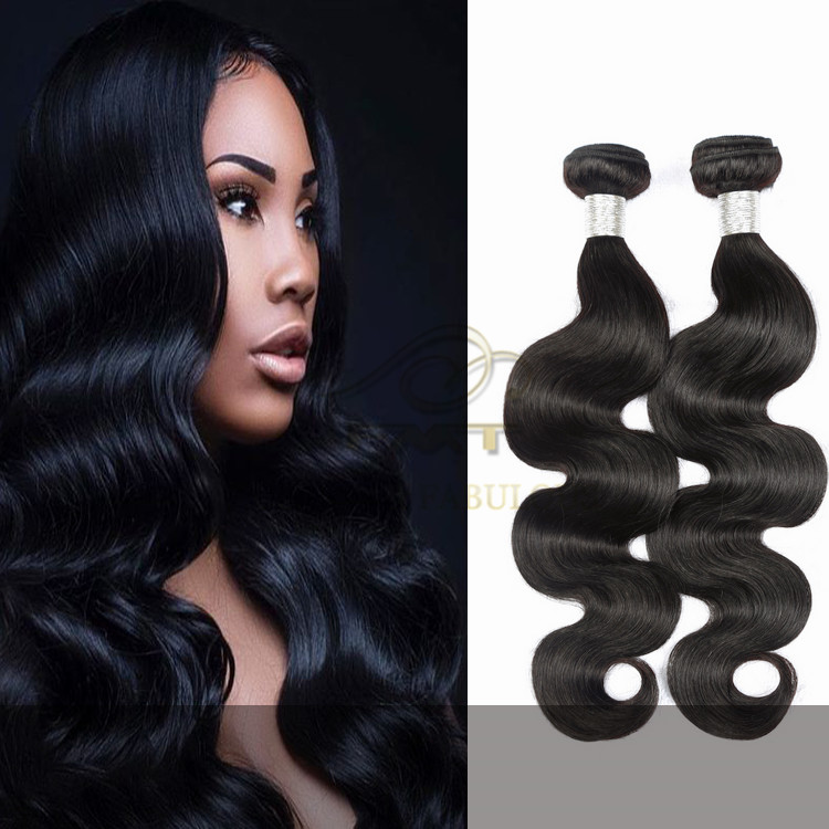 Wholesale Super Quality Brazilian Hair No Shedding No Tangle 1B Natural Color Remy Human Hair Extension