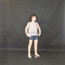 Factory sales realistic makeup child sexy model for children garment display