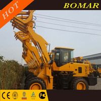 4.5m Dumping Height High Dump 1.8t Sugarcane Grass Grapple Mini Front End Wheel Loader ZL918