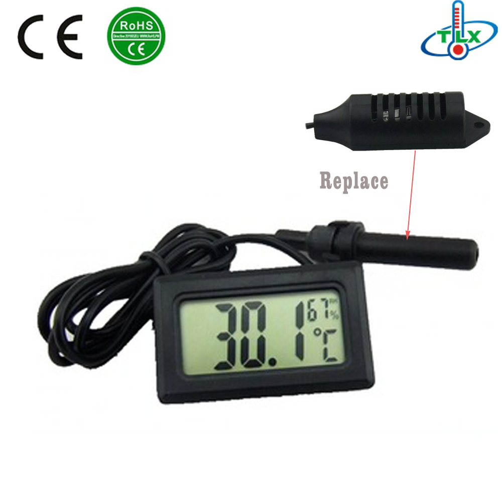 Digital Thermometer Hygrometer Humidity Monitor Probe for Egg Incubator/Hive